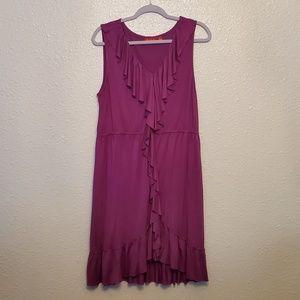 Elle purple ruffle summer dress